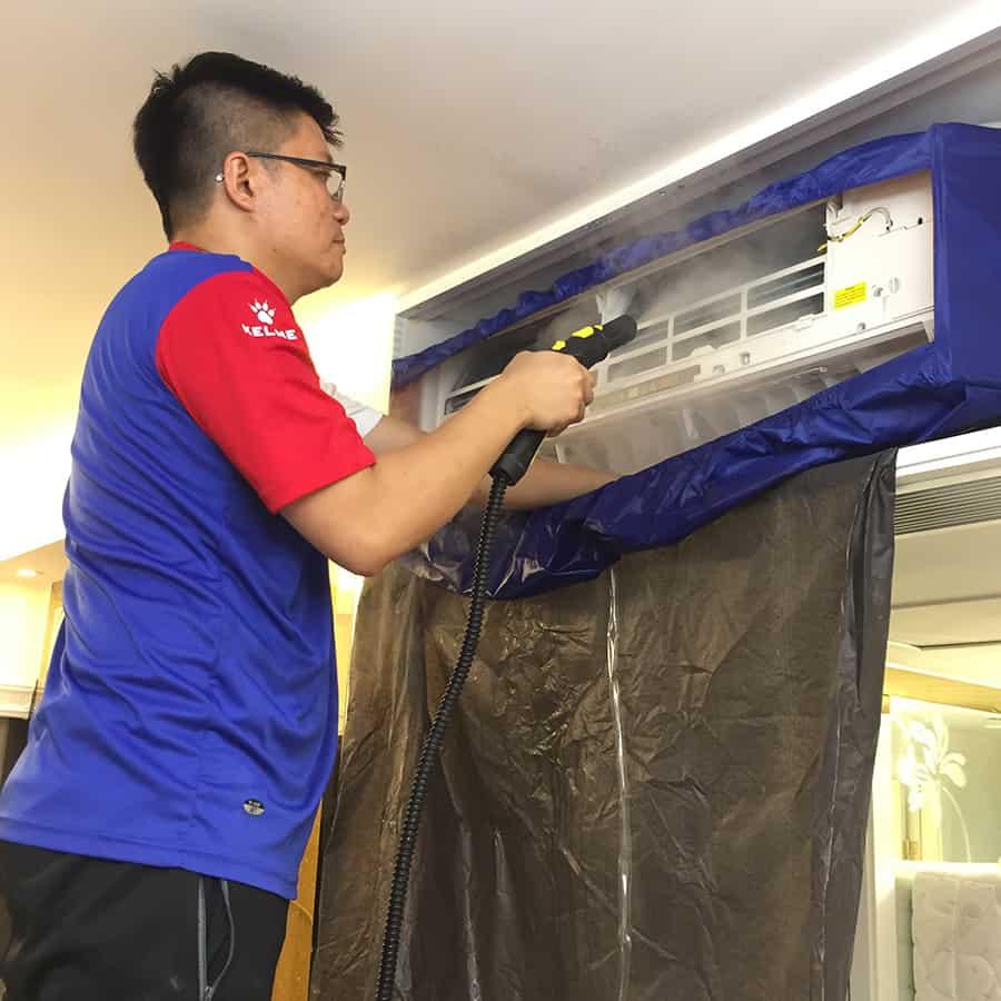 蒸洗及消毒冷氣機 清洗分體式冷氣機